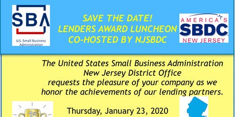 2019 SBA New Jersey Lender Awards tickets