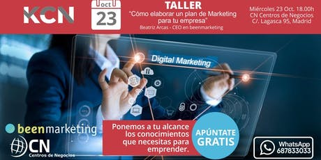 "Taller : ""Cómo elaborar un plan de marketing para tu empresa"" entradas"
