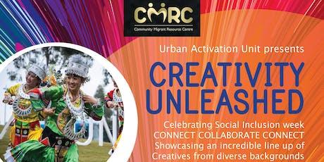 CMRC Masterclass & info night for Creativity  unleashed tickets