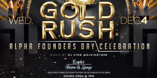 ★-★ GOLD RUSH ★-★ Alpha Founders Day Celebration @ Explicit | Wed, Dec 4 @ 7p