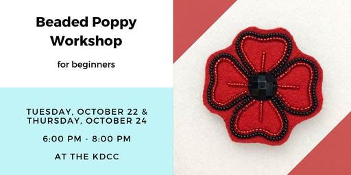 Beaded Poppy Workshop for Beginners