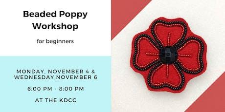 Beaded Poppy Workshop for Beginners tickets