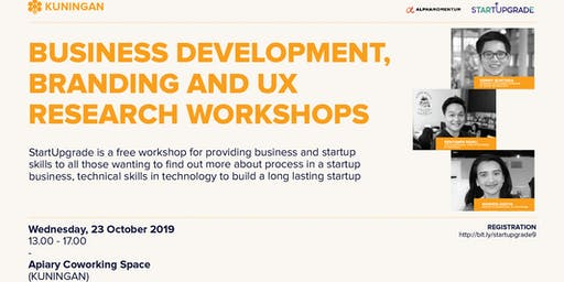 StartUpgrade #9 : Business Development, Branding and UX Research workshop!