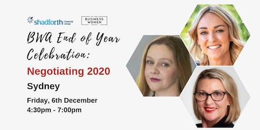 Sydney, BWA End of Year Celebration: Negotiating 2020