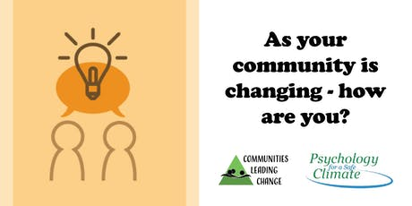 As your community is changing - how are you? tickets
