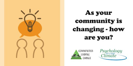 As your community is changing - how are you?