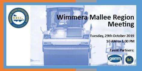 MWOA Wimmera Mallee Region  Meeting