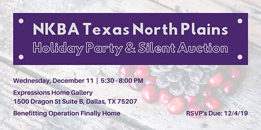 NKBA December Meeting-Operation Finally Home Silent Auction & Holiday Party