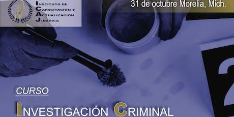 CURSO INVESTIGACIÓN CRIMINAL entradas