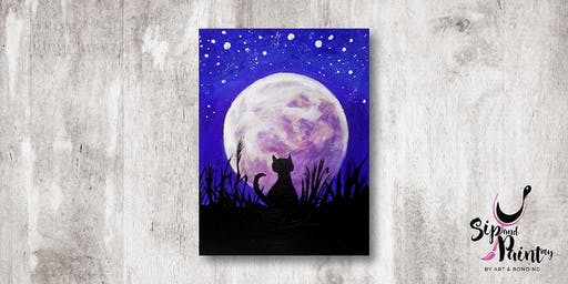 Sip & Paint MY @ Hubba Mont Kiara : Moonlight Cat