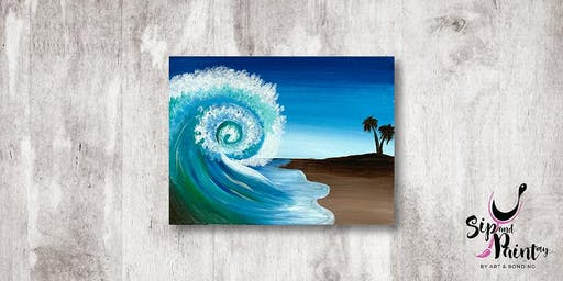 Sip & Paint MY @ Hubba Mont Kiara : Beautiful Wave