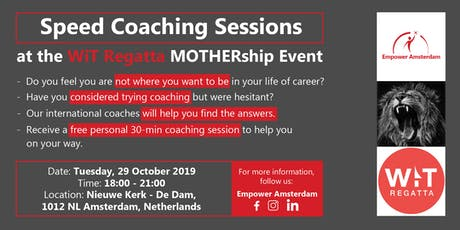 Speed coaching at the WiT Regatta Mothership Event tickets