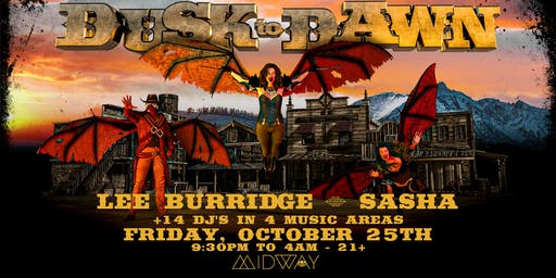 Dusk to Dawn' at Midway with Lee Burridge, Sasha, Vau de Vire, & more