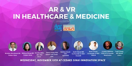 Health 2.0 LA & XRLA Present: VR and AR in Healthcare and Medicine tickets