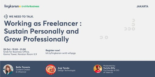 Working as Freelancer : Sustain Personally and Grow Professionally