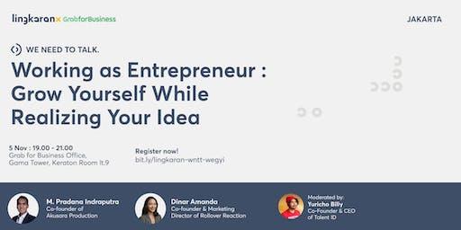 Working as Entrepreneur