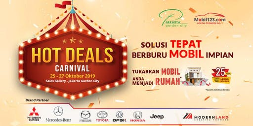 Hot Deals Carnival by Mobil123.com & Jakarta Garden City