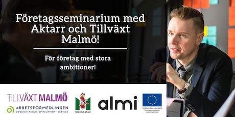 Företagskväll med Aktarr och Tillväxt Malmö!  biljetter