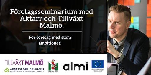 Företagskväll med Aktarr och Tillväxt Malmö!