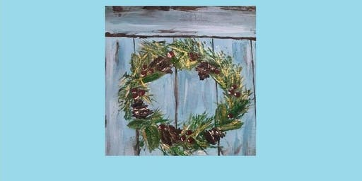 """Painting Party with Creatively Carrie """"Vintage Wreath"""""""