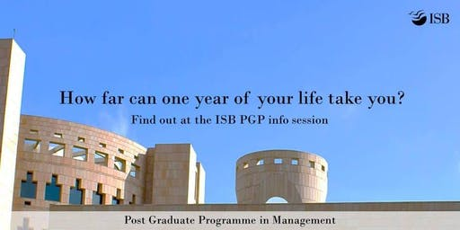 ISB PGP Application Workshop - Hyderabad (7 PM)