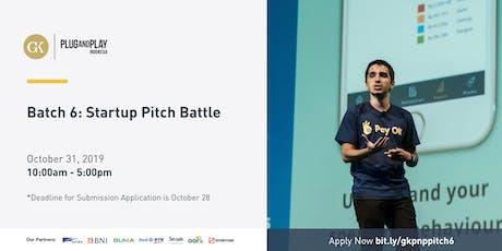 Batch 6: Startup Pitch Battle tickets