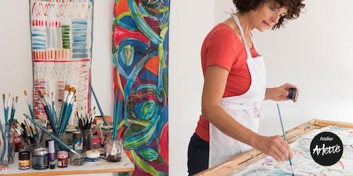 El Arte de pintar sobre seda, Atelier Arlette. Jornadas de puertas abiertas
