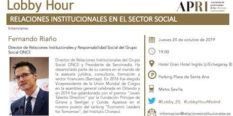 LOBBY HOUR: RELACIONES INSTITUCIONALES EN EL SECTOR SOCIAL entradas