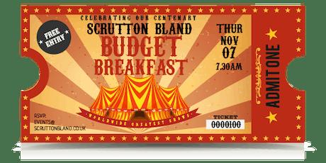 Budget Breakfast 2019 tickets