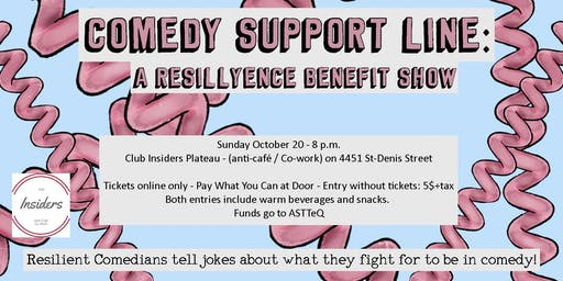 Comedy Support Line: A Benefit Show