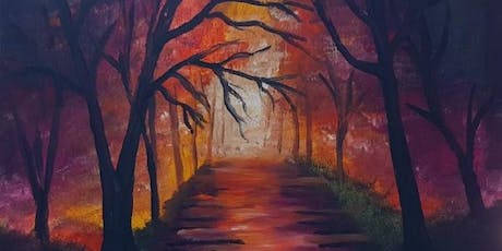 Paint and Sip Brisbane 2 for 1 offer Forest Walk Painting tickets