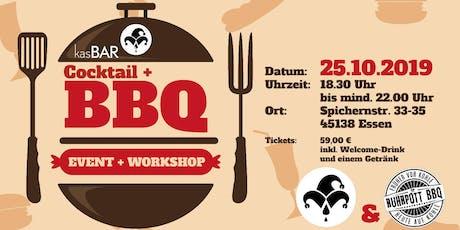 Cocktail und BBQ Event + Workshop Tickets