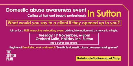 Domestic abuse awareness raising event - hair and beauty professionals tickets