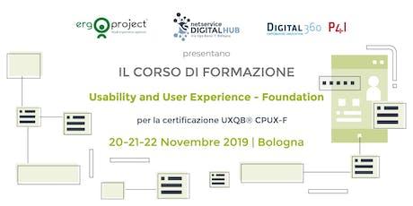 Corso CPUX-F Bologna 20-22 Novembre 2019 biglietti