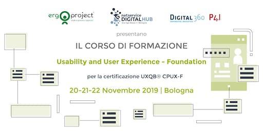 Corso CPUX-F Bologna 20-22 Novembre 2019
