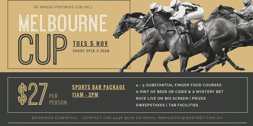 Melbourne Cup - Sports Bar Package