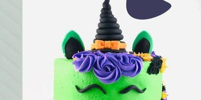 Buttercream and Fondant Witchy Unicorn Cake Class - 27 Oct 2019 HALLOWEEN