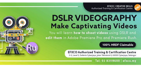 AUTHORISED TRAINING: DLSR & SMARTPHONE VIDEOGRAPHY tickets