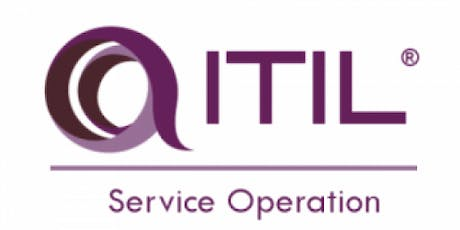 ITIL® – Service Operation (SO) 2 Days Virtual Live Training in Lausanne tickets