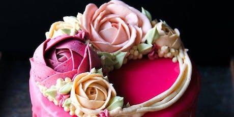 Buttercream Floral Drip Cake Class tickets