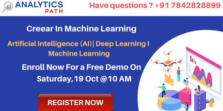 Free Machine Learning Interactive Sessions on 19th Oct,10 am Hyderabad tickets