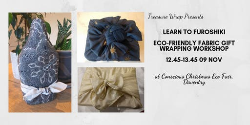 Furoshiki- reusable giftwrapping workshop with TreasureWrap