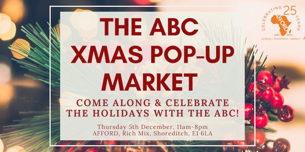 Abc Christmas Catalog 2019.The Abc Xmas Pop Up Market Tickets Thu 5 Dec 2019 At 11 00
