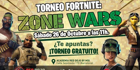 Torneo Fortnite: Zone Wars entradas