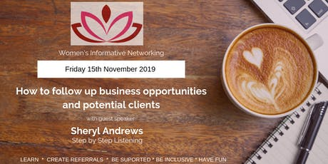 WIN Networking - How to follow up business opportunities and potential clients tickets