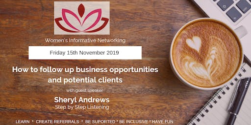 WIN Networking - How to follow up business opportunities and potential clients