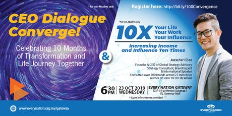 CEO Dialogue Converge & 10X Your Life, Your Work, Your Influence tickets