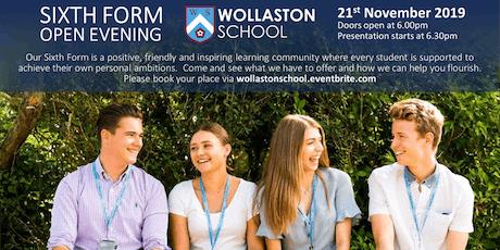 Wollaston School Sixth Form Open Evening tickets