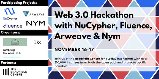 Web 3.0 Hackathon with NuCypher, Fluence, Arweave & Nym