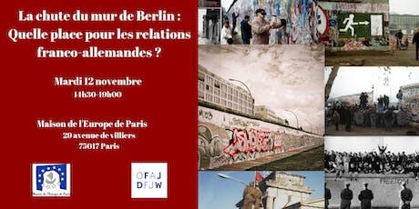 La chute du mur de Berlin et les relations franco-allemandes ? billets